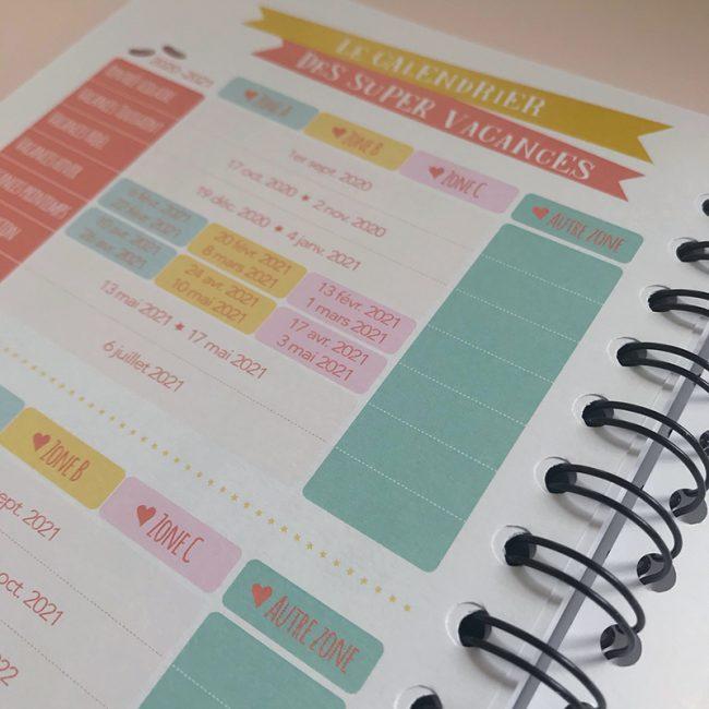 agenda perpétuel des nounous pour 4 enfants calendrier des vacances scolaires