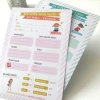 fiche santé secours urgence garde d'enfant pour nounou et assistante maternelle